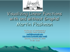 Visualizing Linear Functions with and without Graphs!