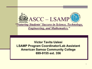 LSAMP - American Samoa Community College