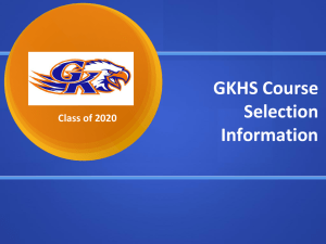 GKHS Course Selection Information