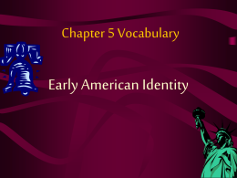 Chapter 5 Vocabulary
