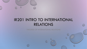 IR201 theories of I.R