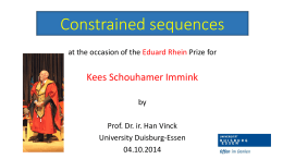 Constrained sequences - Universität Duisburg