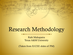 Research Methodology - Texas A&M University