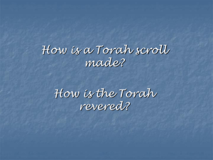 Writing the Torah - Primary Resources