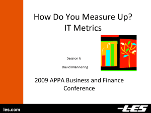 How Do You Measure Up?: IT Metrics