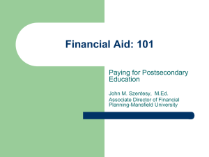 Mansfield Federal Financial Aid Presentation