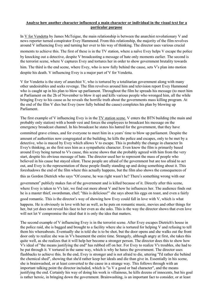 v for vendetta film essays
