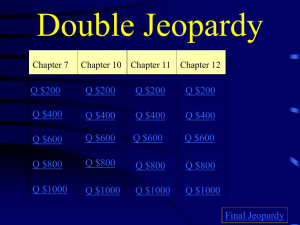Unit Two Double Jeopardy