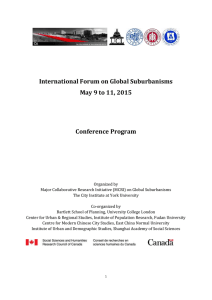 View a copy of the conference program - Global Suburbanisms