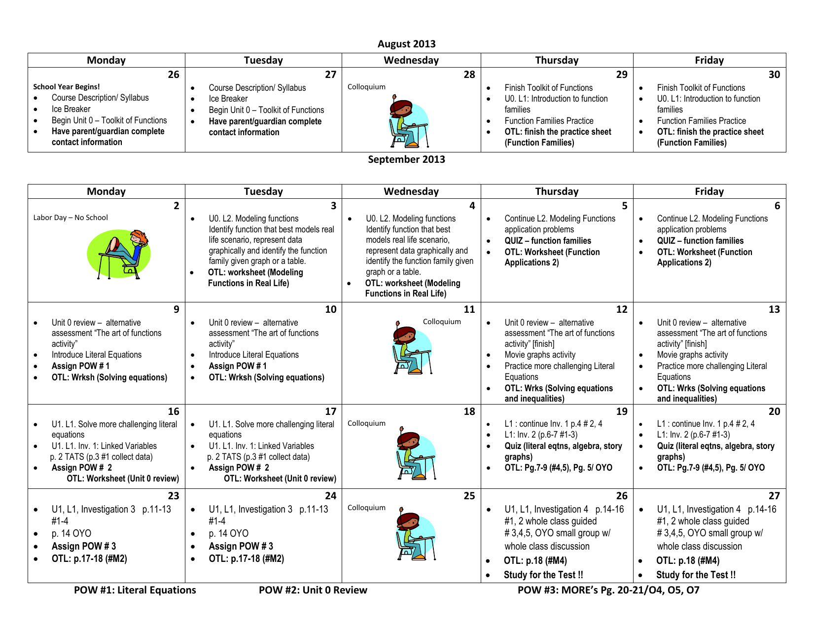 AAT CURRENT Full Block Calendar 25-25 In Literal Equations Worksheet Answer Key