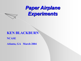 Training - Paper Airplanes