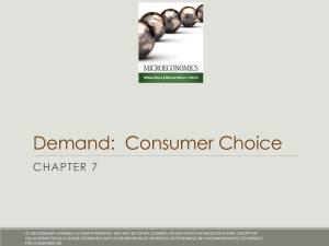 Chapter 7 - Consumer Choice