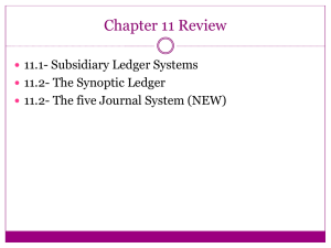 Chapter 11.2 - 5 Journal System -