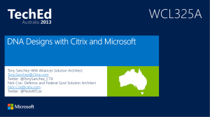 DNA Designs with Citrix and Microsoft