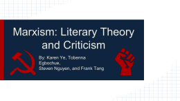 Marxism: Literary Theory and Criticism