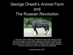 George Orwell's Animal Farm and the Russian Revolution