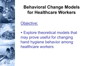 Behavioural Change Models Literature Review