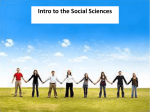 An Introduction to the Social Sciences