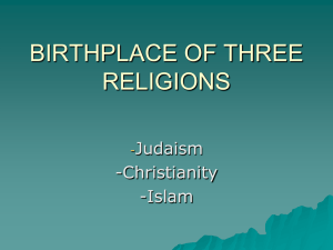 3 religions, birthplace, 2011