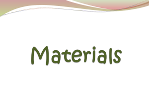 Materials - Primary Resources