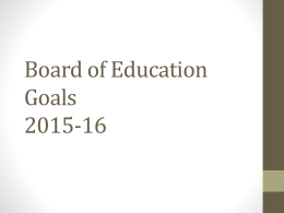 Board of Education Goals 2015-16