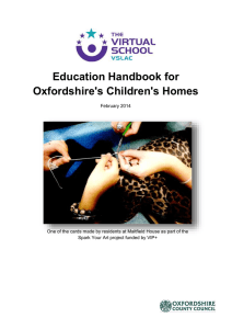 Education handbook for Oxfordshire's Children's Homes (pdf format