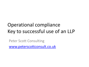 Operational compliance Key to successful use of an LLP