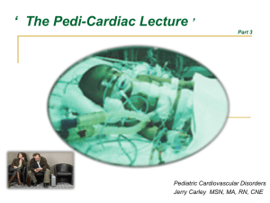Pediatric Cardiac Conditions