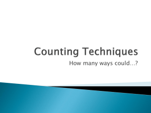 Counting Techniques (ppt)