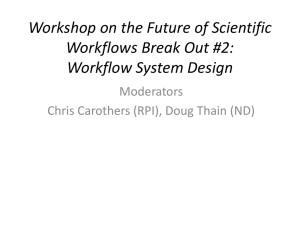 Workshop on the Future of Scientific Workflows Break Out #2