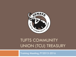 Tufts Community Union (TCU) Treasury