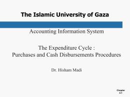 purchasing and cash disbursements