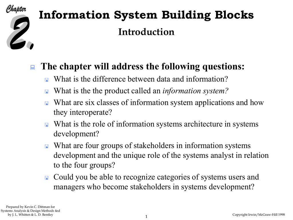 Information System Building Blocks