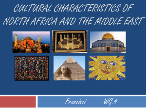 cultural Characteristics of North Africa and the Middle