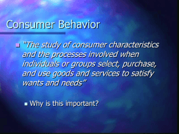 Consumer Behavior - rww2coursecontent