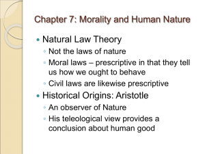 Chapter 5: Kant's Moral Theory