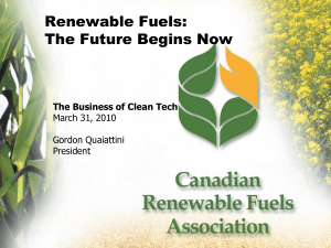 Renewable Fuels: The Future Begins Now