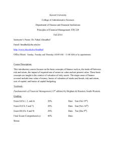 Syllabus Fin 220 - Fall 2014
