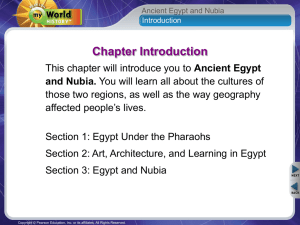 Ancient Egypt and Nubia.