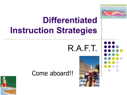 RAft Powerpoint - technologyMeaningful