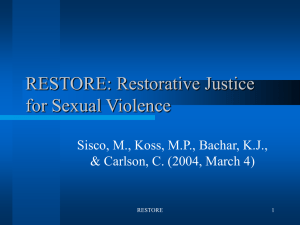 Restorative justice theory validation - U-System