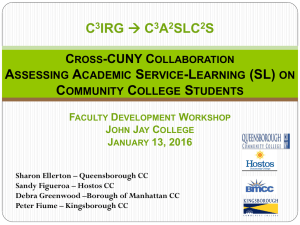 A Cross CUNY Collaboration to Assess the Impact of