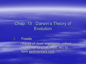 Chap. 15 : Darwin's Theory of Evolution