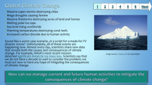 Climate Change - Baltimore County Public Schools