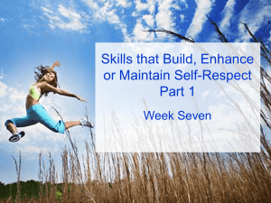 Self-Respect Skills, Part I - Human Resourcefulness Consulting