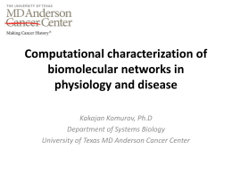 Computational characterization of biomolecular networks in