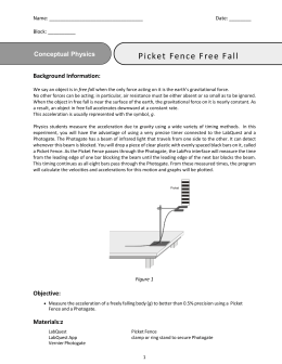 experiment discussion and conclusion free fall and gravitational acceleration photogate Example experiment report for phys 342l  in this work we determined the magnitude of earth's gravitational field g by measuring free fall times for various objects released at different heights and using the  σ~1% versus 20% in the first experiment conclusion using fall times we were able to measure the magnitude of earth's.