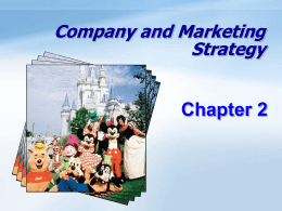 Company and Marketing Strategy