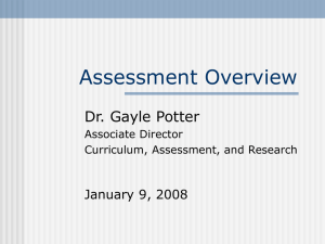 13-Gayle's Powerpoint--Assessment Overview