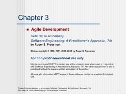 Slide Set to accompany Web Engineering: A Practitioner Approach